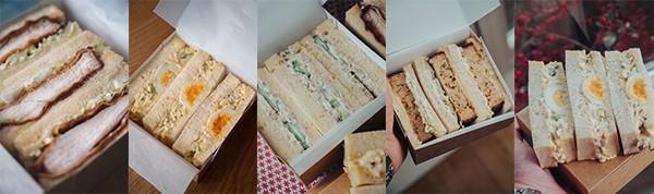 Japanese style sandwiches